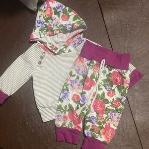 Floral 2 piece baby girl set